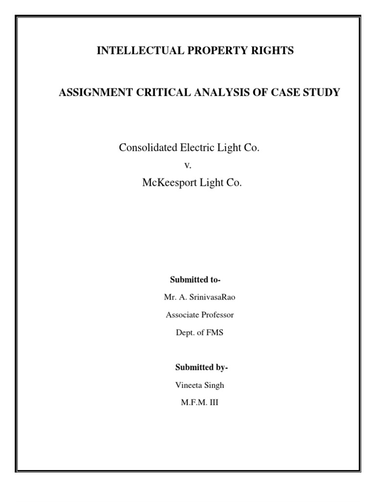 consolidated electric case study