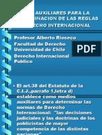 MEDIOS AUXILIARES PARA LA DETERMINACIÓN DE LAS REGLAS DE DERECHO INTERNACIONAL