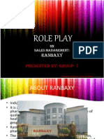 Role Play SALES- Ranbaxy