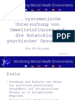 Monitoring Mental Health Environments project summary German