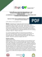 Relatoría Seminario Taller Responsabilidad Ambiental y Gestión del Riesgo