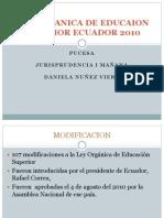 Ley Organica de Educaion Superior Ecuador 2010