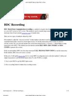 BDC Recording