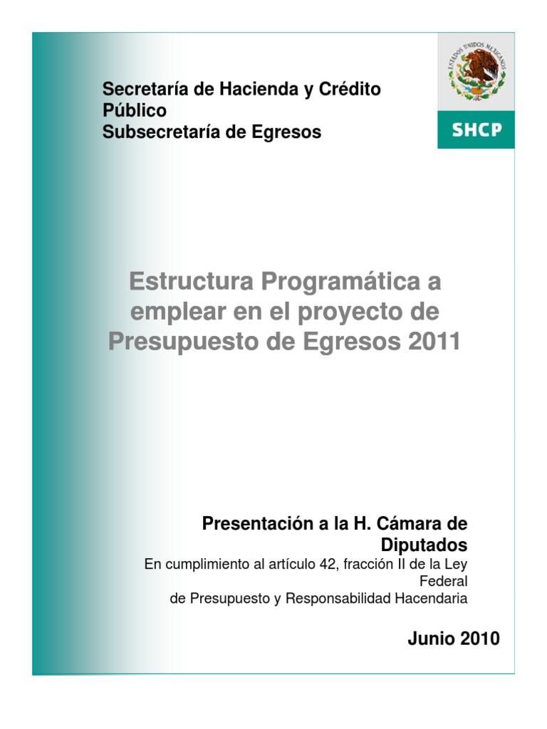 Estructura Programatica 2011 Presupuesto Pensión