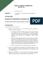 Amended 2012 TTC budget