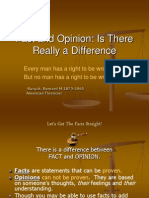 Fact and Opinion 2