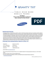 T-Mobile Samsung Gravity TXT User Manual