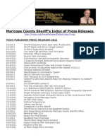 Maricopa County Sheriff Press Release Index