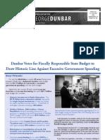 Representative Dunbar Fall 2011 Newsletter