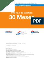 Informe de Gestión 30 meses - SECRETARIA DE LA FUNCION PUBLICA - PRESIDENCIA DE LA REPUBLICA DEL PARAGUAY - PortalGuarani