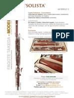 Fagote TAKEDA 3 - Modelo Solista Profissional