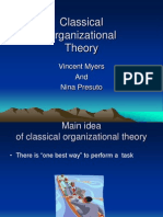 Organisational Theories