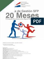 Informe de Gestión SFP de 20 Meses   De la función pública - SECRETARIA DE LA FUNCION PUBLICA - PRESIDENCIA DE LA REPUBLICA DEL PARAGUAY - PortalGuarani