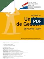 Informe de un año de gestión SFP 2008 2009 - SECRETARIA DE LA FUNCION PUBLICA - PRESIDENCIA DE LA REPUBLICA DEL PARAGUAY - PortalGuarani