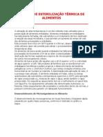 TÉCNICA DE ESTERILIZAÇÃO TÉRMICA DE ALIMENTOS