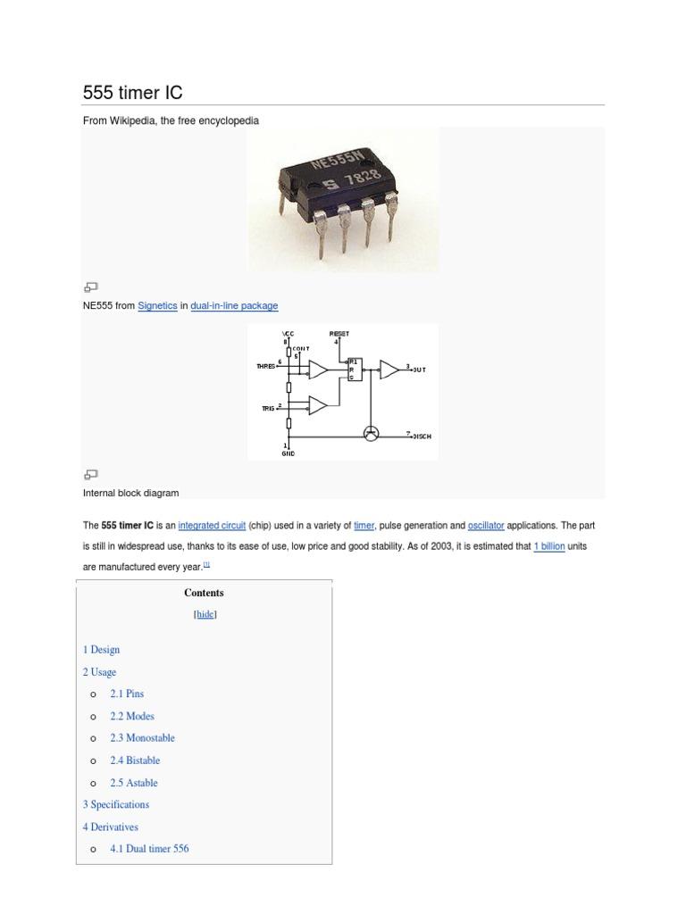 555 Timer Ic Electrical Engineering Electronic Internal Diagram