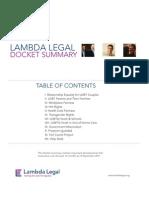Lambda Legal Docket 2011