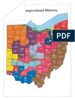 Redistricting Map - Ohio in Color
