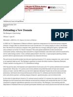 Defending a New Domain