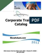 Morphobyte Trainging Catalog 2011
