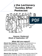 Living the Lectionary - 14th Sunday After Pentecost