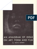 An Anagram of Ideas on Art, Form and Film by Maya Deren