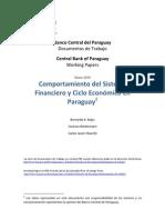Comportamiento del Sistema Financiero y Ciclo Económico en Paraguay - BCP - PortalGuarani