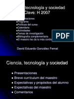 Ciencia tecnología y sociedad CTS 1