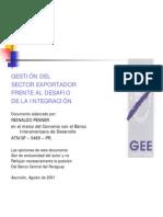 Gestión del Sector Exportador Frente al Desafío de la Integración - BCP - PortalGuarani