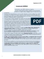 comunicadoconfech9septiembre-110909120052-phpapp02