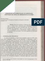 Concepção de Dissertação Monografia de Base (Saviani)