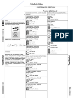 2011 Publication Ballot
