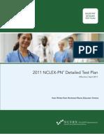 2011 NCLEX PN Detailed Test Plan - Educator