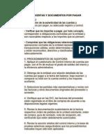 Auditoria de Cuentas y Documentos Por Pagar
