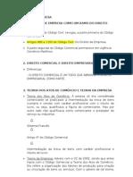 Direito de Empresa - Aulas Digitadas