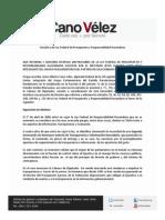 06-09-11 Iniciativa Ley Federal de Presupuesto y Responsabilidad Hacendaria Cano Vélez