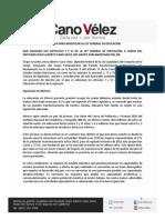 13-09-11 Iniciativa Cano Vélez Ley General de Educación