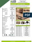 EarthLED Direct LED 5 Foot Tube Light Cut Sheet
