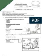 Evaluacion de Cs Componentes Abiotico y Bioticos tercero básico