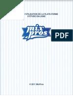 Manuel d'utilisation de la plate-forme d'étude en ligne MixPros