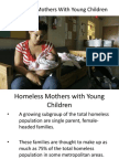 Homeless Mothers With Young Children