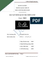 phân tích chiến lược công ty D&G