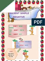 Worksheet Present Simple Negative