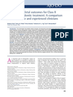 Dental and Skeletal Outcomes ClassII