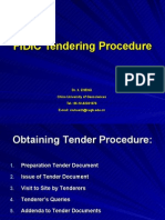 Fidic Tendering Procedure Presentation