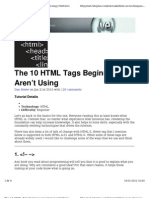 The 10 HTML Tags Beginners Aren't Using