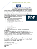 CDAC Post Graduate Diploma in Information Technology Admissions 2011