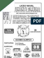 Examen de Olimpiada de a 5to Prim. 2008