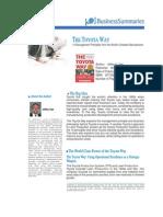 Executive Book Summary - The Toyota Way