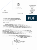 November 20, 2007 - Senator Flanagan Sends Letter to Parks Department Regarding Open Space